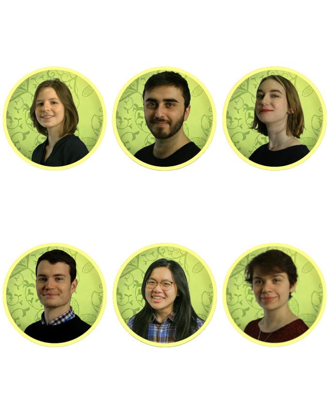 Romane Faure, Nathanael Perron, Léa Detrain, Benoît De Geyer D'orth, Pei-hsuan Lin, Anne-lise Kubiak